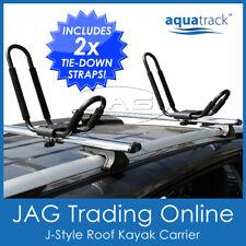 AQUATRACK J-STYLE ROOF RACK MOUNT KAYAK CARRIER FIXED - Canoe/Surf Ski/Surfoard