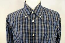 "DANIEL HECHTER  Casual  SHIRT  Blue Check  Longsleeve   size L   16.5""     092 Y"