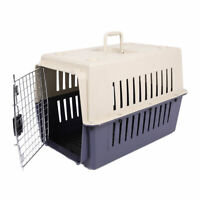 Large Cat Carrier Kitten Puppy Crate Pet Transporter Safe Travel Cage Portable
