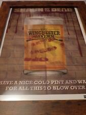 16x12 framed original universal numbered hard card winchester tavern shaun dead