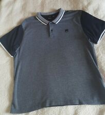 Bench Mens Polo Shirt Size XXL Navy Blue And White