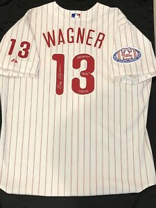 Billy Wagner SIGNED 2004 Philadelphia Phillies Jersey w/ Patch & 3 INSCRIPTION