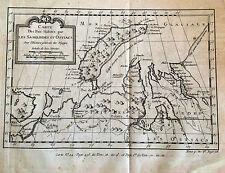 RUSIA, RUSSIA. REGIONES POLARES, mapa original,1757