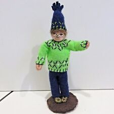 "NFL Seattle Seahawks Hand Made 12th Man, Good Luck Guy Fan 4.75"" Tall"