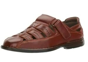 New $60 STACY ADAMS Men's Bridgeport Closed Toe Fisherman Sandal Shoes 10 M