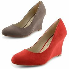 Mid Heel (1.5-3 in.) Wedge Women's Faux Suede Shoes