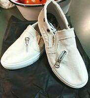Beautyfis Women's Flat Heel Casual Slip-On Shoes Sneakers Size 7.5 (38)