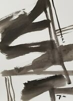 "JOSE TRUJILLO - ABSTRACT MINIMALISM INK WASH New Art 9x12"" DESIGN COLLECTIBLE"