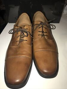 Clarks Men's Size 14 Whiddon Cap Toe Oxford Dark Tan $100.00