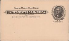 PUERTO RICO, 1899-1900. Post Card UX1, Mint