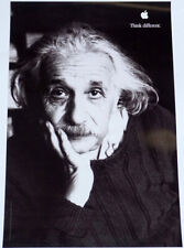 """APPLE Think different poster ALBERT EINSTEIN approx 18""""/11"""" mint rolled shipping"""