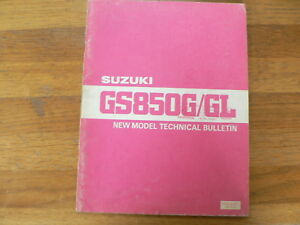 SUZUKI GS850/GL NEW MODEL TECHNICAL BULLETIN 1979 BIKE MOTORRAD MOTORCYCLE