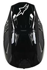 ALPINESTARS SM8 Motocross Helmet Peak Solid Black Glossy