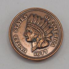 Belt Buckle 1877 Liberty Indian Head Penny Vtg