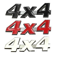 "Tailgate 3.5"" Red 4X4 3D Metal Emblem Sticker Badge 4 Wheel Drive SUV Offroad"