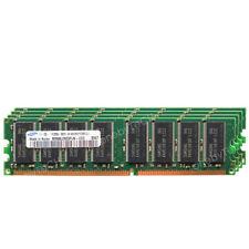SAMSUNG 4GB KIT 4x1GB PC3200 DDR-400 MHz 184 pin Non-ECC DIMM Desktop Memory RAM