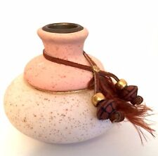 Aljesa Pottery Vase or Candle Holder Southwestern Ceramics 3.5 inches Tall
