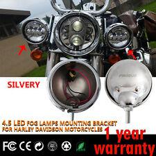 "Firebug 2 X 4.5"" Harley Davidson Housing, 4.5"" LED Fog Lights Mounting Bracket"