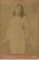 Reutlinger, Leconté, actrice vintage albumen print, carte cabinet Tirage album