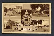 C1930's Multiviews of Bedford St Paul's Square, John Bunyans Statue & Cottage.