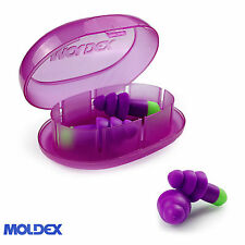 1 pair Reusable Ear Plugs - Moldex Rockets Uncorded Earplug with travel case