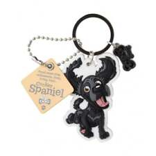 Wags & Whiskers Top Dogs Cocker Spaniel Black Dog Keyring 00204000013