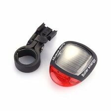 3 Flash Mode Solar Energy Rechargeable Bicycle Tail Light with 2 Red LED