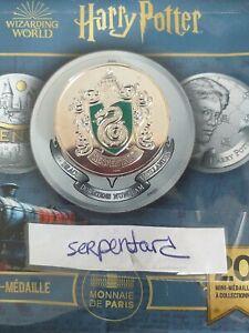 Mini Médaille Harry Potter Monnaie de Paris 2021 Serpentard