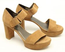 Stuart Weitzman Causeway Femmes Talon Haut 7 B Chameau Chaussures Cuir Daim