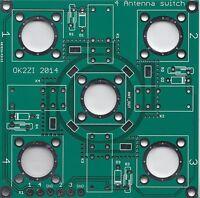 4:1 remote antenna switch bare PCB DIY cheap SO-239