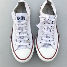 Converse Ladies Trainers Size 6 39 - All Star White Red Lo Top Womens Unisex