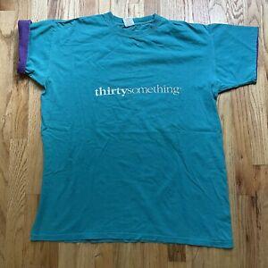 Mens Vintage 80s ABC Thirtysomething TV Series Promo Teal Blue T Shirt Tee Sz XL