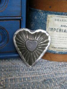 Small Antique Tin Heart Mold