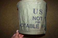 "Original & Scarce Gulf War I U.S. Army ""Pail, Collapsible, 10 Quart"" 1991 dated"