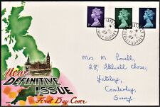 GB 1967 TOVEY FIRST DAY COVER BRITISH DEFINITIVE ISSUES SG729,740,743