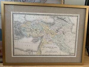 1890s Rand McNally Ottoman Empire Antique Map - Framed