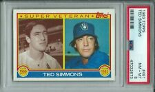 1983 TOPPS BASEBALL #451 TED SIMMONS MILWAUKEE BREWERS HOF PSA 8 NM - MINT