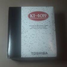 Brand New Toshiba Portable Stereo Am/Fm Radio Cassette Player Kt-4019 Walkman
