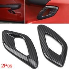 For 2011-2019 Dodge Challenger Interior Door Handle Cover Trim Carbon Fiber Look