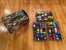Vintage Lot 36 Diecast Cars Hot Wheels, Matchox 80s, 70s with case & trays