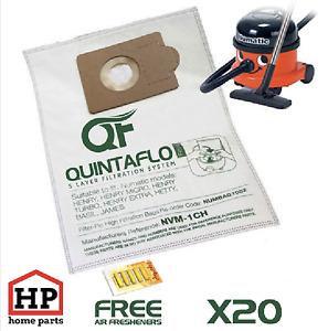 20x Numatic Henry Hetty James Vacuum Cleaner Hoover Bags+Fresheners Microfleece