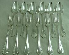 Christofle, modèle Printania, 6 cuillères et 6 fourchettes de table, 1/2.