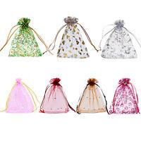 25PCs 10x12cm Premium Organza Gift Bags Pouches Wed/Christmas Gift Favor M3358