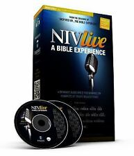 New in box- NIV Live By The Bible Experience- Complete Bible on Audio CDs +bonus