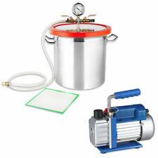 Vakuumpumpe Unterdruckpumpe Vakuumkammer Vakuum Entgasungskammer Edelstahl Set