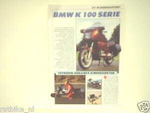 BMW K100 SERIE  ROADTEST