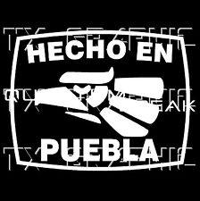 Hecho En Puebla  Estado de Mexico  Aztec Aguila Decal Vinyl Sticker