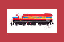 """Sacramento Valley Railroad GP15-1 11""""x17"""" Matted Print by Andy Fletcher signed"""