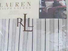 """Ralph Lauren Bleecker Street Shirting Stripe Queen Bedskirt  60"""" x 80""""  NIP"""