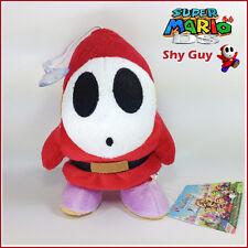 "Super Mario Bros Shy Guy Mask Enemy Soft Plush Toy Stuffed Animal Figure Doll 6"""